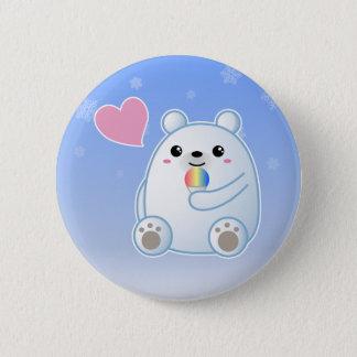 Polarer Bärn-Liebe Runder Button 5,1 Cm