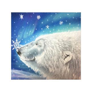Polarer Bärn-Schneeflocke-Leinwand-Druck Leinwanddruck
