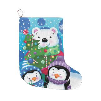 Polarer Bärn-und Penguins-Strumpf Großer Weihnachtsstrumpf