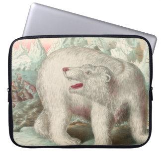 Polarer Bärn-Vintager Druck Laptopschutzhülle