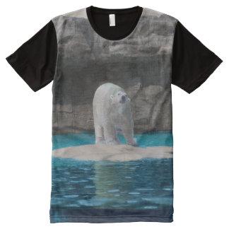 Polares Schlagt-shirt T-Shirt Mit Komplett Bedruckbarer Vorderseite