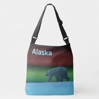 Polarlicht-Eisbär - Alaska Tragetaschen Mit Langen Trägern