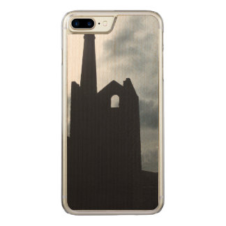 Poldark Land-Bergwerk ruiniert Cornwall England Carved iPhone 8 Plus/7 Plus Hülle
