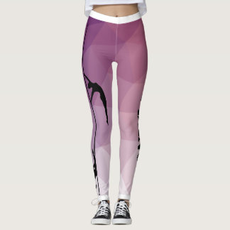 Pole-Fitness-Tanz-lila und rosa Gamaschen Leggings