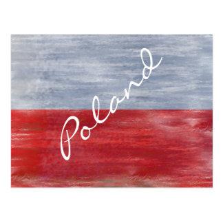 Polen beunruhigte polnische Flagge Postkarte