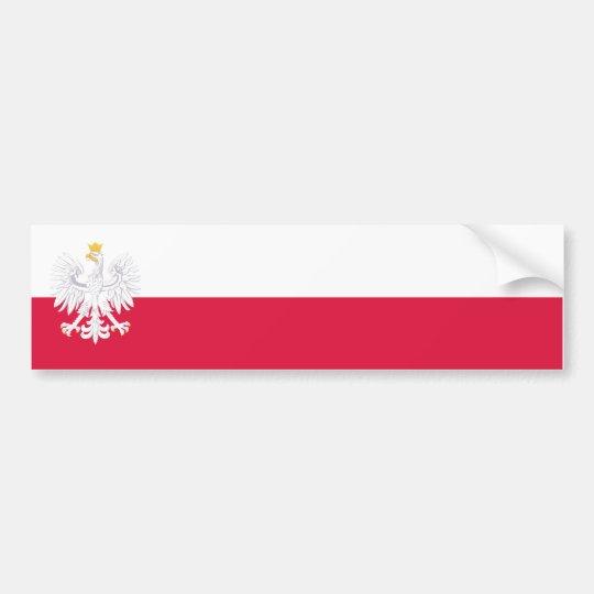 Polen Fahne/Flagge Autoaufkleber