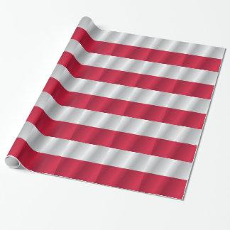 Polen-Flagge Einpackpapier
