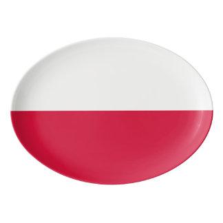 Polen-Flagge Porzellan Servierplatte