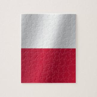 Polen-Flagge Puzzle