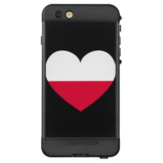 Polen-Flaggen-Herz LifeProof NÜÜD iPhone 6s Plus Hülle