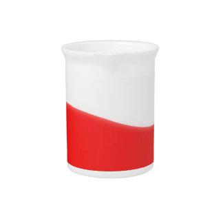 Polen-Flaggen-Karte Getränke Pitcher