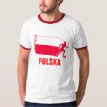 Polen-Fußball-Flagge T-shirt