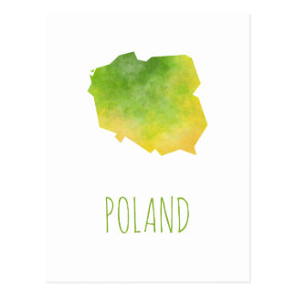 Polen-Karte Postkarte