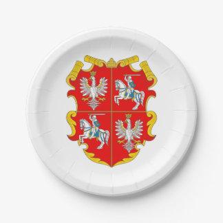 Polen-Litauen Commonwealth (Aufstieg Rosen) Pappteller