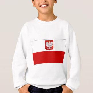Polen-Staats-Flagge amd zivile Fahne Sweatshirt