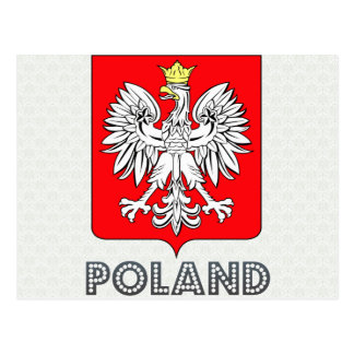Polen-Wappen Postkarte
