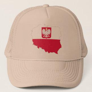 Polen-Wappenkartenkappe Truckerkappe