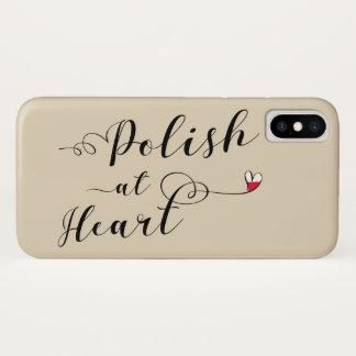 Polieren Sie am Herz-Handy-Fall iPhone X Hülle