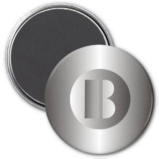 "Polierstahl ""B "" Runder Magnet 7,6 Cm"