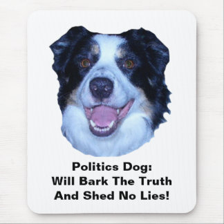 Politik-Border-Collie-Barke die Mousepads