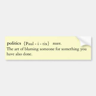 Politik definierter Autoaufkleber