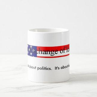 Politik gegen Fragen Tasse