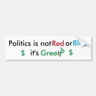 Politik ist Habsucht Autoaufkleber