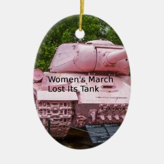 Politik-Spaß: Der März der Frauen verlor seinen Keramik Ornament
