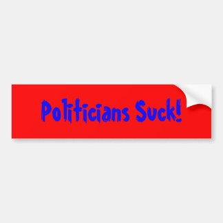 Politiker sind zum Kotzen! Autoaufkleber