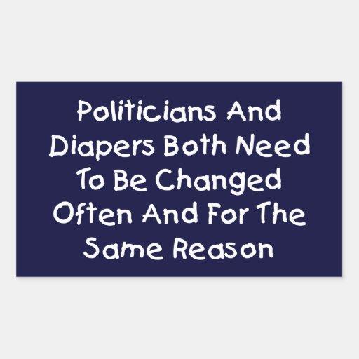 Politiker und Windeln Sticker