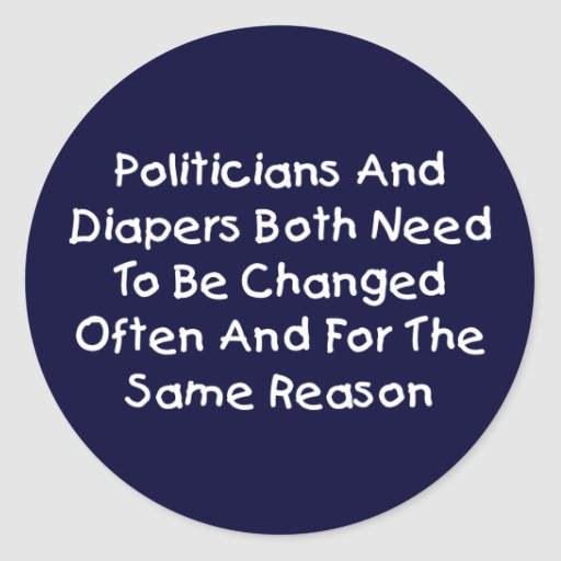 Politiker und Windeln Runde Sticker