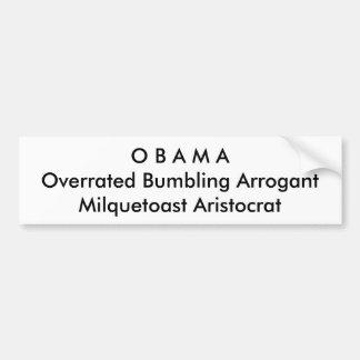 Politisch, Anti-Obama-Autoaufkleber Autoaufkleber