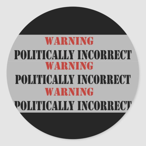 Politisch falsch sticker