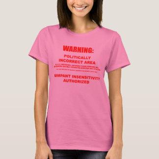 Politisch falscher Bereichs-lange Hülse T-Shirt