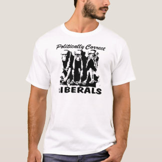 Politisch korrekte Liberale 3 Affen T-Shirt