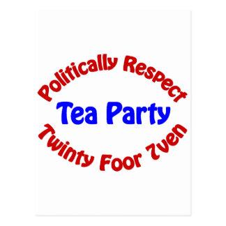 Politisch Respekt - Tee-Party Postkarte