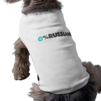 politische Aussage, die etwas nervös ist Ärmelfreies Hunde-Shirt