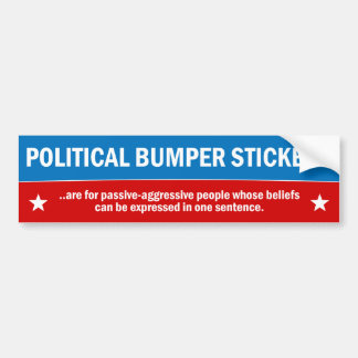 Politische Autoaufkleber