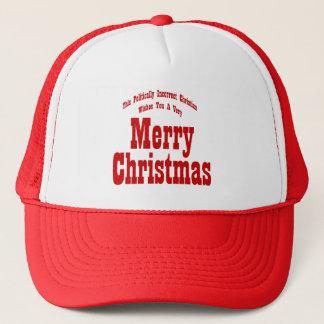 Politische christliche frohe Weihnacht-Hut-Kappe Truckerkappe