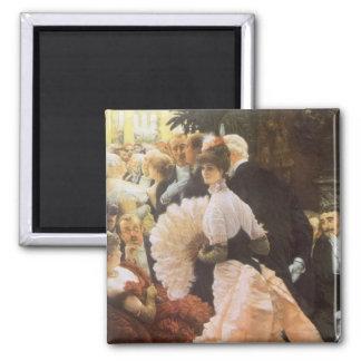 Politische Dame durch James Tissot, Vintages Quadratischer Magnet