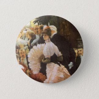 Politische Dame durch James Tissot, Vintages Runder Button 5,1 Cm