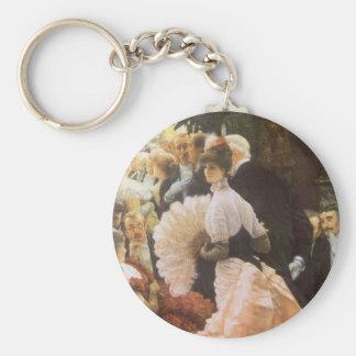 Politische Dame durch James Tissot, Vintages Schlüsselanhänger