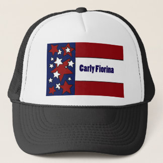 Politische Flaggen-Kunst Carly Fiorinas Truckerkappe