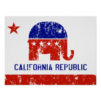 politische Kalifornien-Republik beunruhigt Poster