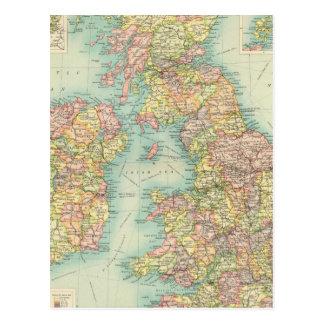Politische Karte der britischen Inseln