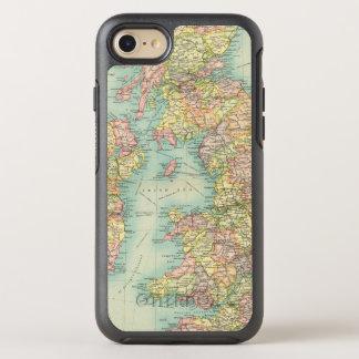 Politische Karte der britischen Inseln OtterBox Symmetry iPhone 8/7 Hülle