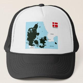 politische Kartenflagge Dänemark-Landes Truckerkappe