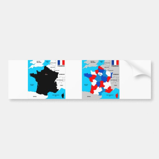 politische Kartenflagge Frankreich-Landes Auto Aufkleber