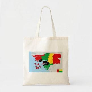 politische Kartenflagge Guinea-Bissau Landes Tasche