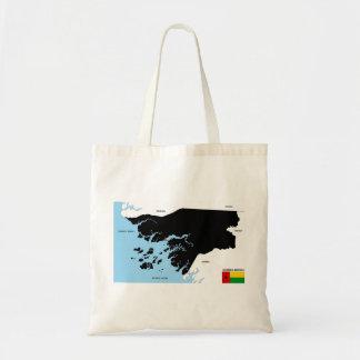 politische Kartenflagge Guinea-Bissau Landes Taschen